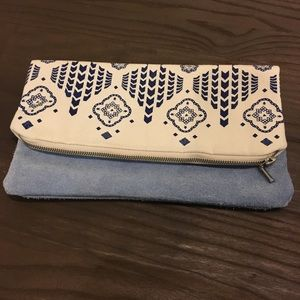 Handbags - Etsy Blue and Cream Clutch